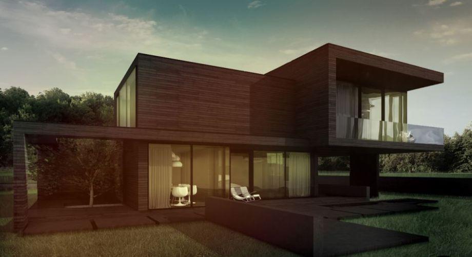 Nowoczesny projekt domu z plaskim dachem