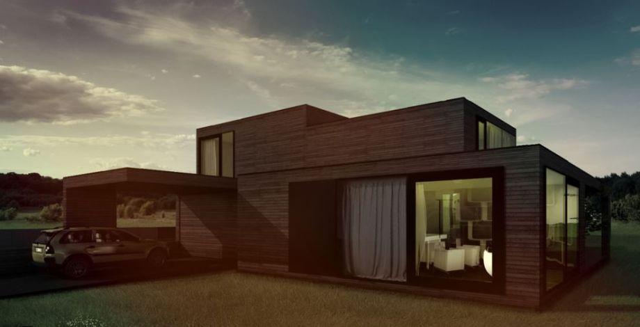 Nowoczesny projekt domu z plaski dachem