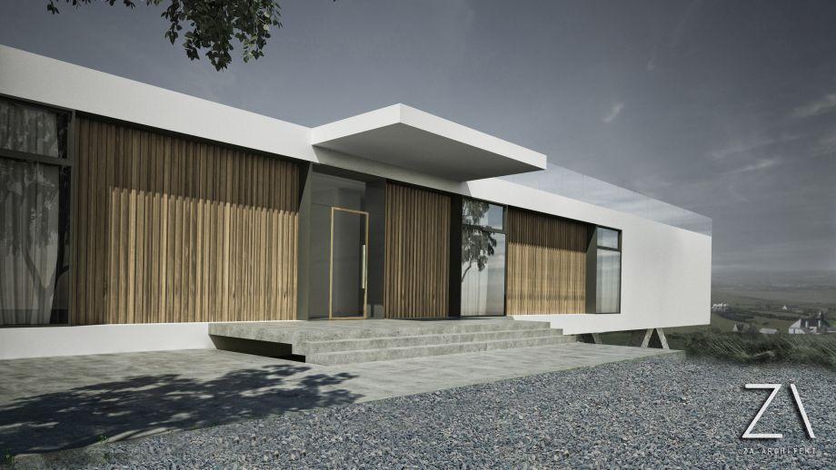 nowoczesny dom liniowy